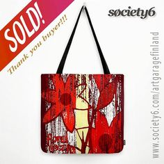 Sold!!! :D .. thanks to the person who bought this 'Red Floral Decay' tote-bag design from my Society6 webshop. #sold #society6 #totebags  #art #artist #bagoftheday #bags #instalike #instalikes #instaartist #giftideas #accessories #fashion #streetstyle #s6totebag #floral #decadence #red #instared #bagsofinstagram #bag #bags #bags #instabag #soldonS6 #exclusive #fashionista #carryall #citystyle #urban #designerstyle
