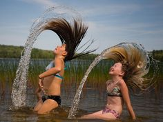 Chicas bañándose