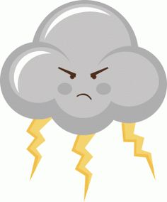 thunderstorm cloud from the Silhouette Design Store! Silhouette Online Store, School Decorations, Storm Clouds, Cute Images, Drawing For Kids, Silhouette Design, Cute Stickers, Cute Drawings, Kawaii