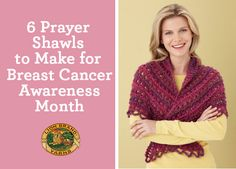 Give the gift of comfort and sympathy with these 6 knit & crochet patterns for Breast Cancer Awareness Month! Whether you're crafting for charity, or for someone close to you, your handmade prayer or healing shawl serves as a reminder that you have them in your thoughts.