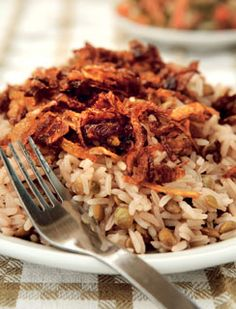 JANNA GUR brings you the taste of Israel - Mejadra − Rice with Lentils - For @Robin R