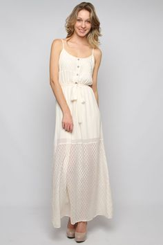 summery casual ivory dress.