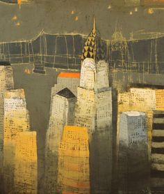 """Steel and Mortar 80""""x68"""" : CITYSCAPES : Cityscapes, Paul Balmer"""