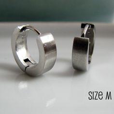 Mens Earrings Silver Hoops Hoop Men S Piercings Man Stainless