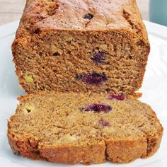 Banana, Blueberry and Chia Loaf | A simple, flavoursome banana bread that is great for an afternoon tea treat! Perfect with a spreading of butter or chia jam.