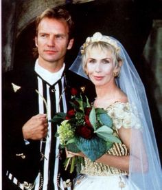Sting And Trudie In Tuscany Great Photo