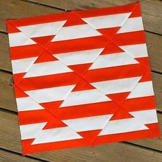 'm waiting on more fabric for my Weave Quilt, so I thought this might be a good time to test my Tile Quilt templates.Indian hatchet quilt block, stunning in rainbow colorsorange and white modern quilt block.would make an awesome full size quilt as is. Patchwork Quilt, Patchwork Patterns, Quilt Block Patterns, Mini Quilts, Pattern Blocks, Colchas Quilting, Quilting Designs, Quilting Templates, Modern Quilt Blocks
