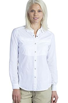 Camp Clothing - ExOfficio Womens BugsAway Halo Long Sleeve Shirt -- Read more reviews of the product by visiting the link on the image.