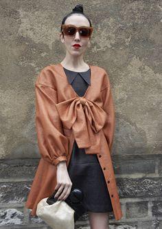 PARIS - Michelle Harper at Paris Fashion Week.