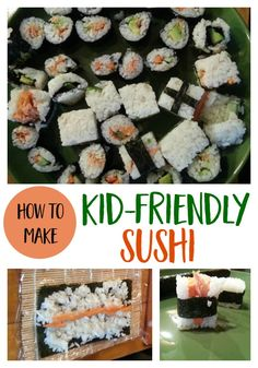 How to Make Kid-Friendly Sushi healthy food | recipe | kid food