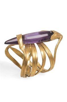 Art Nouveau amethyst ring. Georges de Ribaucourt, Paris 1902.