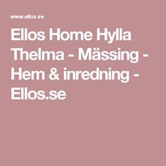 Ellos Home Hylla Thelma - Mässing - Hem & inredning - Ellos.se