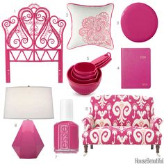 Color Obsession of the Week: Bright Pink. Pink Lamp inspiration @ http://www.zazzle.com/hot+pink+lamps?rf=238101365570313024