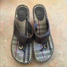 """Auth. Burberry Wedges SZ 40 (8.5US) Bought last year and wore on vacation for a week down on the Cape. Like New condition. Size 40.  Run a bit small will fit someone with a size 8.5 shoe Paid $295 make offer   **These are available till listing says """"SOLD"""" or I'll remove the ad if sold elsewhere** Burberry Shoes Wedges"""