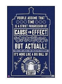HOTTOPIC.COM - Doctor Who Wibbly Wobbly Timey Wimey Poster