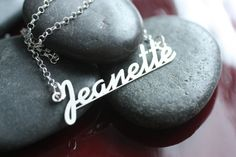Name Necklace - Personalized Sterling Silver