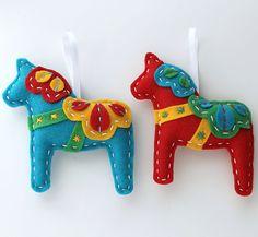 Felt Dala Horse By lova revolutionary on Esty.  Check it out!