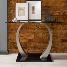 Glass Console Table Metal Iron Rectangle Grey Hallway Entryway Hall  Furniture