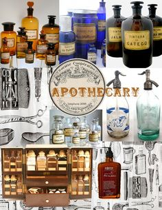 Apothecary jars and labels