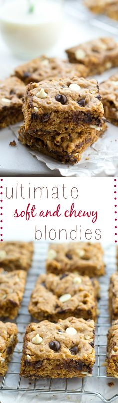 Loaded with two kinds of chocolate and lots of nuts and coconut, these ultra-chewy classic blondies truly are the ultimate! You won't believe how easy they are to make.
