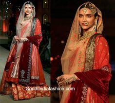 Deepika Padukone in Anju Modi at Bajirao Mastani fashion show
