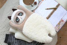 XL mürrisch Katze Warmwasser-Tasche COVER von PetitiPanda auf Etsy