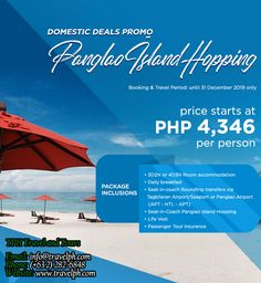PANGLAO ISLAND HOPPING Minimum of 2 persons  For more inquiries please call: Landline: (+63 2) 8 282-6848 Mobile: (+63) 918-238-9506 or Email us: info@travelph.com #Bohol #Philippines #TravelPH #TravelWithNoWorries Bohol Philippines, Tours, Island, Travel, Life, Viajes, Islands, Destinations, Traveling