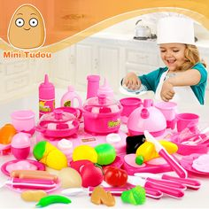 Minitudou Classic Cooking Toys For Children 46PCS Pretend Play Cutting Food Set Kids Kitchen Toys #>=#>=#>=#>=#> Click on the pin to check out discount price, color, size, shipping, etc. Save and like it!