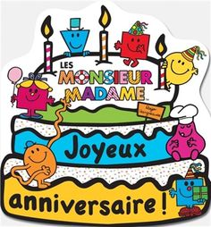 Un cahier d'activités en forme de gâteau pour fêter l'anniversaire des Monsieur Madame.