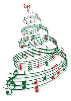 Christmas tree with music notes and heart Banner by Illustree - CafePress Xmas Music, Christmas Music, Christmas Carol, Christmas Crafts, Christmas Tree, White Christmas, Christmas Decorations, Heart Banner, Christmas Concert