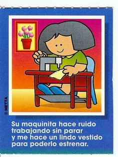 Vocabulario en imágenes. Maestra de Infantil y Primaria.: Juego de las profesiones. Tarjetas con poemas. Preschool, Teacher, Community, Education, Comics, Creative, Anime, Fictional Characters, Herb