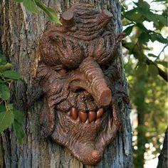 Design Toscano Poison Oak Greenman Tree Sculpture: Set of Two for sale online Tree Sculpture, Wall Sculptures, Sculpture Garden, Lawn And Garden, Garden Art, Willow Garden, Fairies Garden, Forest Garden, Poison Oak