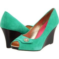 Lilly Pulitzer Resort Chic Wedges Worn only twice! Teal Lilly Pulitzer wedges. Lilly Pulitzer Shoes Wedges