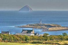 Ailsa Craig from the Isle of Arran, Scotland