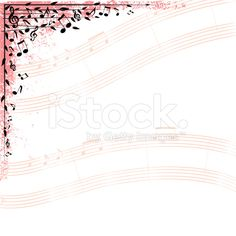 Print of musical notes on a design element. arte vettoriale stock royalty-free