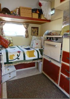 Love the interior and exterior of THIS camper. Simple and clean.