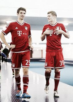 Thomas Müller and Toni Kroos FC Bayern and Germany