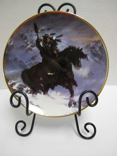 Spirt Of The West Wind Collector Plate Native American Horse Franklin Mint