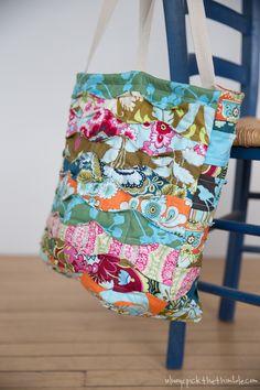 Memory Lane Quilted Tote Bag Sewing Pattern
