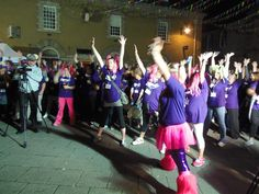 and stretch ... Our supporters getting ready for this year's Moonlight Memory Walk at Falmouth for Children's Hospice South West.  #chsw #moonlight  Find out more about our Moonlight Memory Walks across the South West by visiting our website >>  www.chsw.org.uk/moonlight