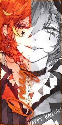 انمي اسود برتقالي Anime Art