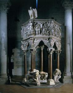Chaire de l'église de Pistoia, 1301