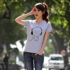 Buy Porspor Cartoon Print T-Shirt at YesStyle.com! Quality products at remarkable prices. FREE WORLDWIDE SHIPPING on orders over US$35.