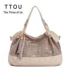 TTOU Brand Women Handbag PU Leather Tote Bag Female Classic Serpentine Prints Shoulder Bags Ladies Handbags Messenger Bag