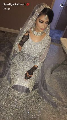 """Saadiya Rahman ( """" Love everything about this bridal look ❤ Hair and makeup by For more makeup…"""" Pakistani Wedding Dresses, Indian Wedding Outfits, Bridal Outfits, Wedding Attire, Indian Dresses, Pakistani Bridal Makeup, Bridal Looks, Bridal Style, Pakistan Bride"""