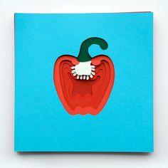 Polly Lindsay schneidet Obst und Gemüse aus Papier  Die Engländerin Polly Lindsay hat ein goldenes Händchen mit der Schere. Schließlich zaubert sie aus einfachem buntem Papier erstaunliche Kunstwer...