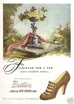 Bective shoes ad, 1949. #vintage #1940s #shoes
