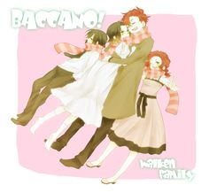 Tags: Baccano!, Pixiv, Chane Laforet, Claire Stanfield, Claudia Walken, Charon Walken, Pixiv Id 2654111