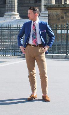 Men's coloured plaid tie. How do you wear your tie?