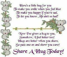 Share A Hug Today!